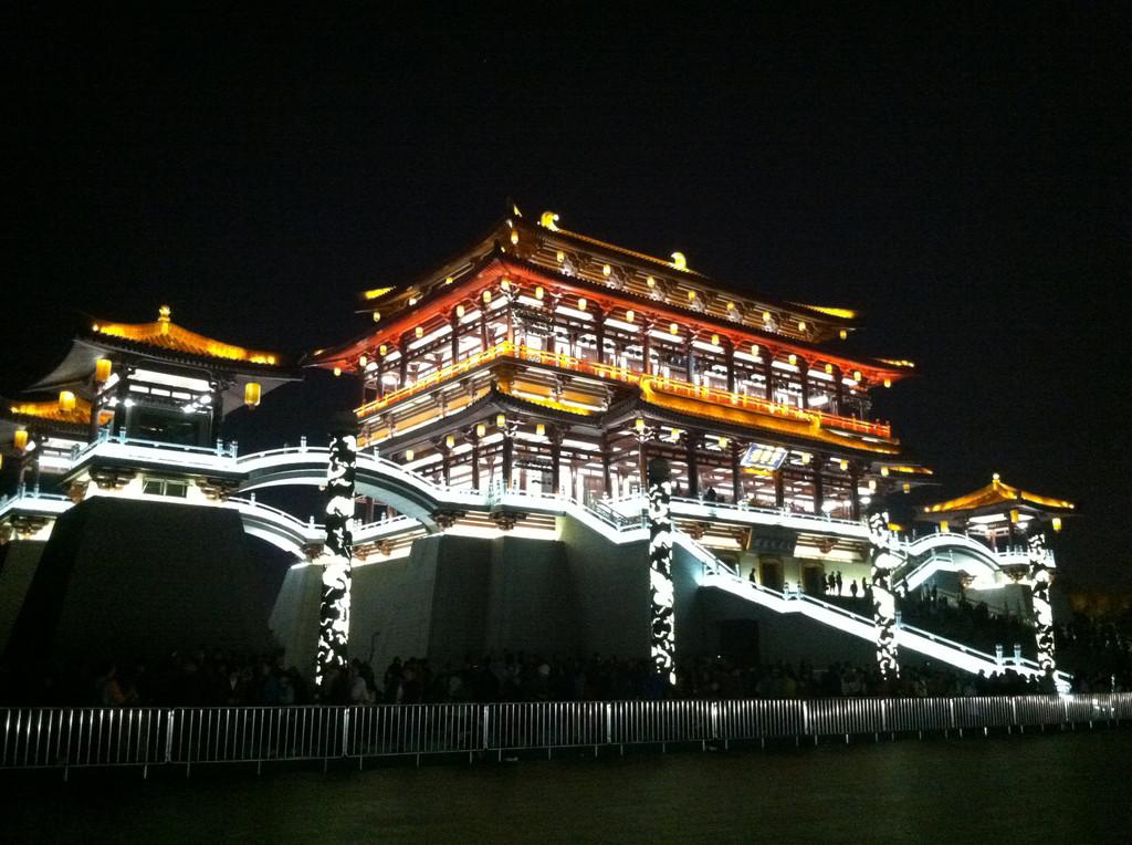 """出来已是晚间~20:30美食街扫美食,广州是中国唯一一个被评为""""巷子回民西安图片"""